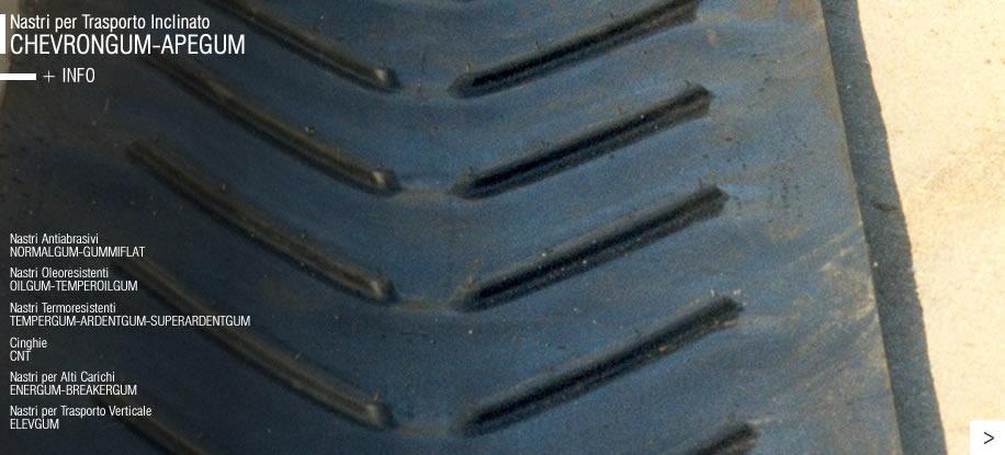 Гумени ленти за наклонен транспорт CHEVRONGUM-APEGUM